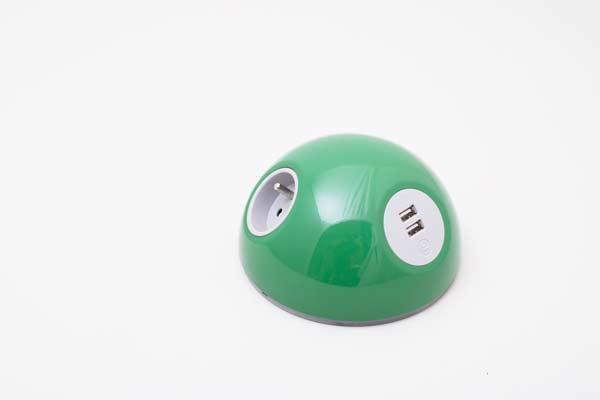 grøn/green pluto oplader med usb