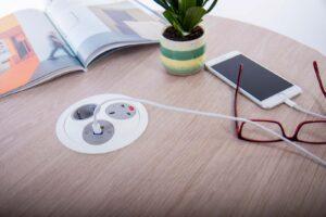 PANDORA OE Electrics hvid grå oplader telefon
