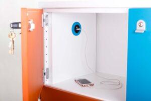 PIP OE Electrics blå USB TUF A+C oplader telefon