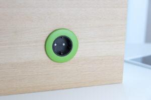 PIP OE Electrics grøn og sort 230V SCHUKO