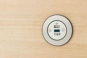 PIP OE Electrics rustfrit stål USB TUF A+C