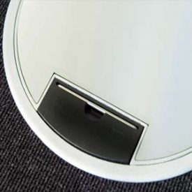 rund gulvboks i aluminium - GES RA7-10